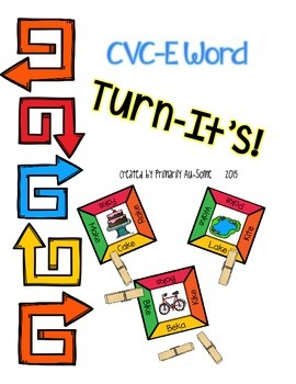 Turn-It's: Clothespin Task Cards for CVC-E Words