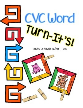 Turn-It's: Clothespin Task Cards for CVC Words