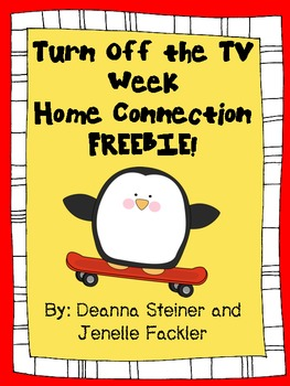 Turn Off the TV Week Home Connection FREEBIE