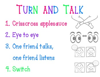 Turn & Talk Expectations Sign