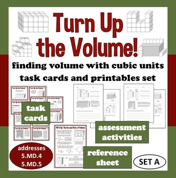 Turn Up the Volume - finding volume with cubes task cards