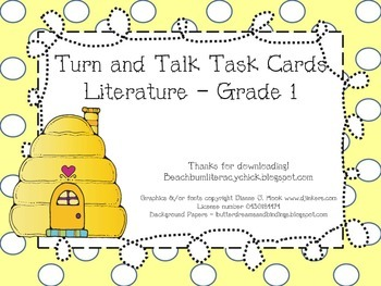 Turn and Talk Task Cards - Grade 1