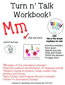 Turn-n'-Talk Workbook! Mm