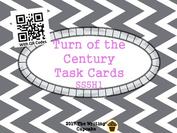 Turn of the Century Task Cards with QR Codes