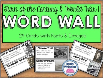 Turn of the Century and World War I Word Wall