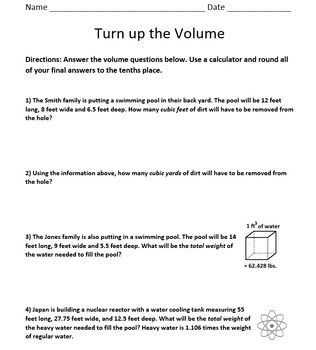 Turn up the Volume