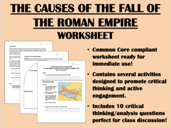 Turning Point - The Fall of Rome worksheet - Global/World