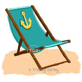 Turquoise Beach Chair with Anchor with and without Sand Pr