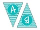 Turquoise Chevron Alphabet Banner Set (upper & lowercase,