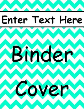 Turquoise Chevron Binder Cover 1