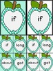 Turquoise Dot Apple Dolch Third Grade Sight Word Flashcard