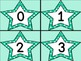 Turquoise Dot Star Number Flashcards 0-100