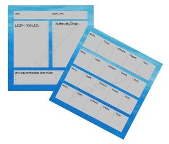 Turquoise Teacher Planner Set