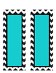 Turquoise and Chevron Blank Editable Labels