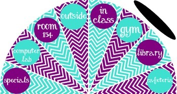 Turquoise and Purple - Where is the class? sign - variation #1