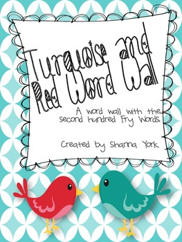 Turquoise and Red Word Wall