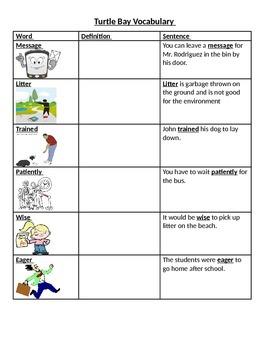 Turtle Bay Vocabulary