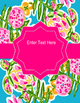 """Lilly Inspired """"Turtle Cove"""" Editable Binder Covers"""