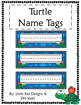 Turtle Name Tags - Printable Name Tags