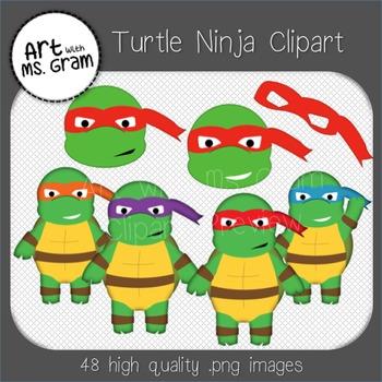 Turtle Ninja Clipart