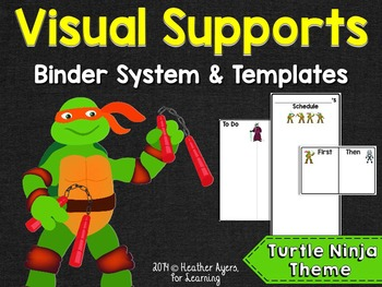 Visual Supports System {Turtle Ninjas Theme}