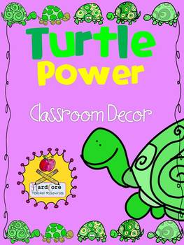 Turtle Power! Classroom Decor {Word Wall Headers+ Supply L