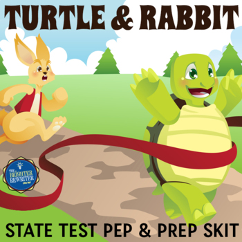State Test Taking Motivation Skit with Tortoise & Hare Theme