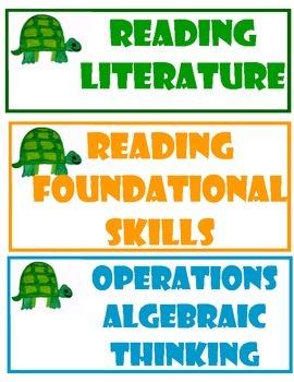 Turtle Theme Kindergarten Common Core Standards