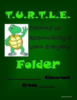Turtle-Themed Folder