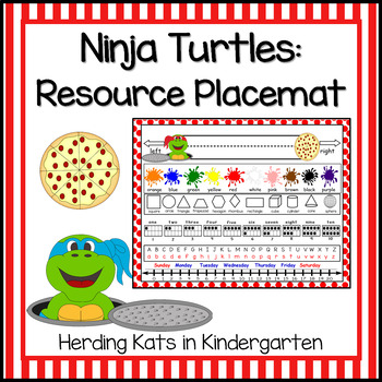 Turtle Themed Placemat