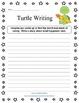 Turtle Writing  - Imaginative Writing Prompt Worksheets