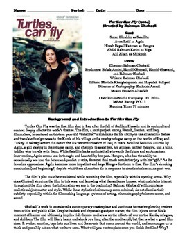 Turtles Can Fly Film (2004) Study Guide Movie Packet