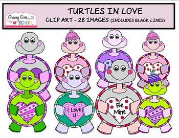 Turtles in Love: Clip Art
