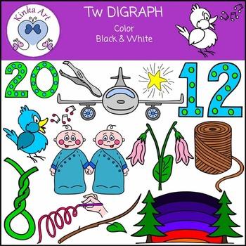 Tw Sounds (Digraph): Beginning Sounds Clip Art