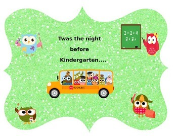 Twas The Night Before Kindergarten- Editable Student Poem