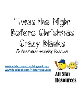 'Twas the Night Before Christmas Crazy Blanks