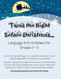 'Twas the Night Before Christmas - Language Arts Activitie