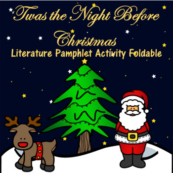 Twas the Night Before Christmas Literature Pamphlet Activi