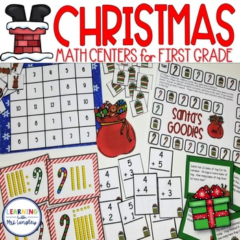 Math Stations CCSS First Grade: Twas the Night Before Christmas