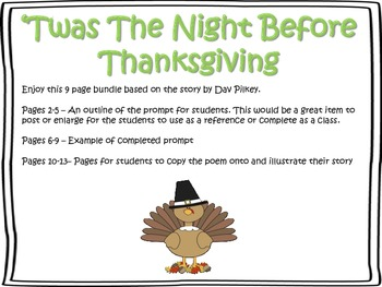 Twas the Night Before Thanksgiving (Writing Prompt)