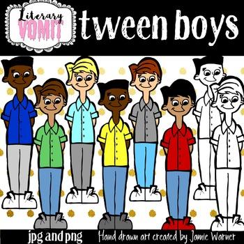 Tween Boy Clip Art