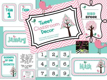 Tweet Classroom Decor Set