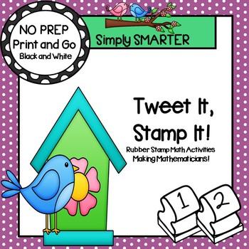 Tweet It, Stamp It!:  NO PREP Spring Themed Math Stamping