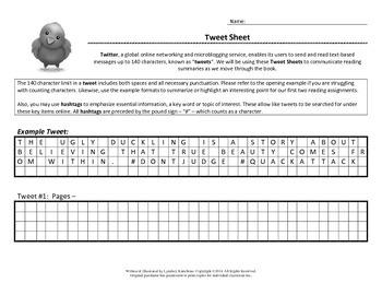 Tweet Sheet for Reading Summaries