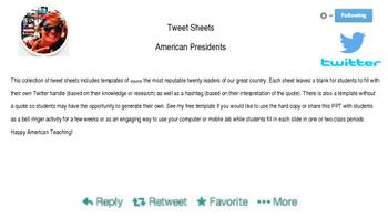 Tweet Sheets of American Presidents