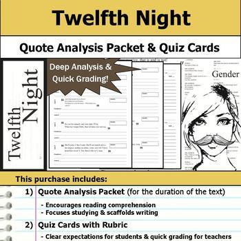 Twelfth Night by William Shakespeare - Quote Analysis & Re