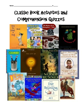 Classic Book Comprehension Quizzes and Activities