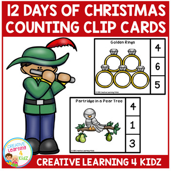 Twelve Days Of Christmas Counting Clip Cards
