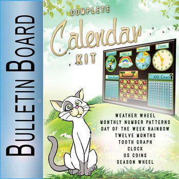 Glimmercat's calendar kit for your classroom's bulletin board