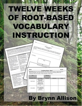 Root Based Vocabulary Instruction, 12+ Weeks of Lessons